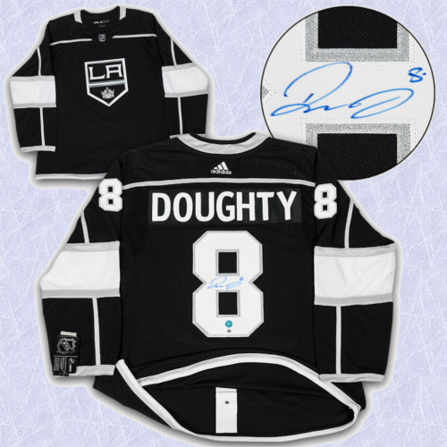 Drew Doughty Adidas Jersey Autographed-Los Angeles Kings