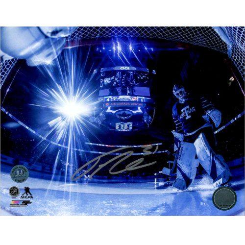 Frederik Andersen Toronto Arenas Signed Toronto Maple Leafs Net Cam Intro 8x10 Photo