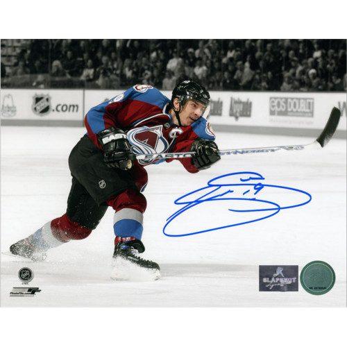 Joe Sakic Signed Colorado Avalanche Sniper Spotlight 8x10 Photo
