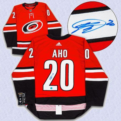 Sebastian Aho Carolina Hurricanes Autographed Adidas Authentic Hockey Jersey