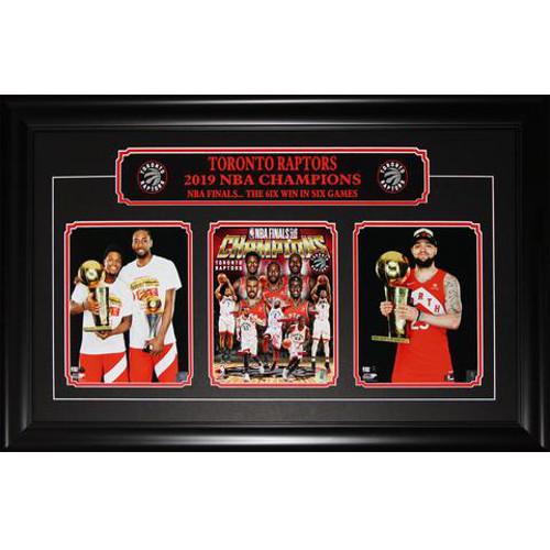 Toronto Raptors 2019 NBA Finals Championship Triple Framed Photo Leonard, Lowry & Vanvleet