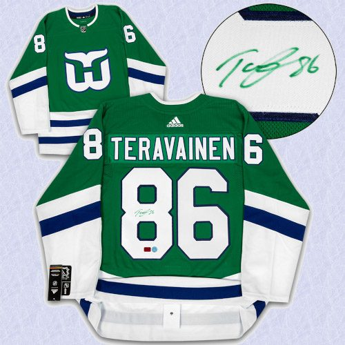Teuvo Teravainen Carolina Signed Hartford Whalers Night Adidas Authentic Jersey