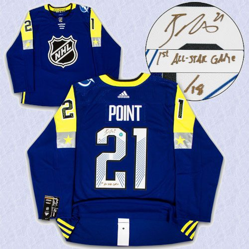 Brayden Point 2018 All Star Game Signed & Inscribed Adidas Authentic Jersey /18