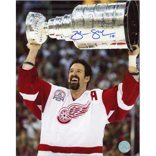 Brendan Shanahan Detroit Red Wings Autographed 2002 Stanley Cup 8x10 Photo