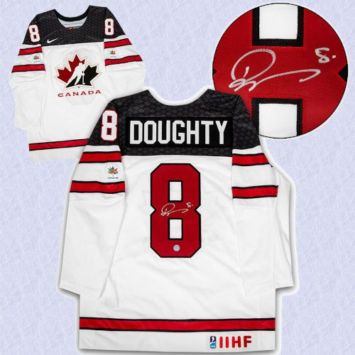 Drew Doughty Team Canada Autographed White Nike Olympic Hockey Jersey