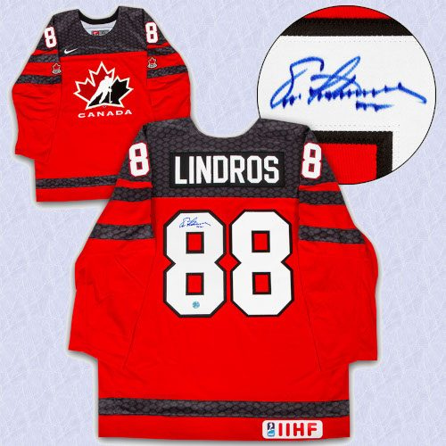 Eric Lindros Team Canada Autographed Nike Olympic Hockey Jersey