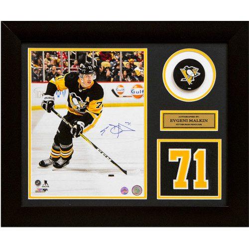 Evgeni Malkin Pittsburgh Penguins Signed Franchise Jersey Number 24x20 Frame