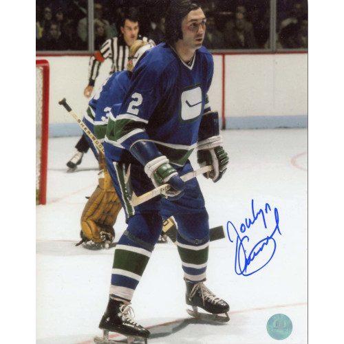 Jocelyn Guevremont Vancouver Canucks Autographed Action 8x10 Photo