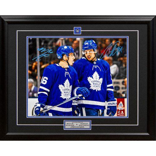 Mitch Marner & Auston Matthews Dual Signed Toronto Maple Leafs Board Meeting 25x31 Frame