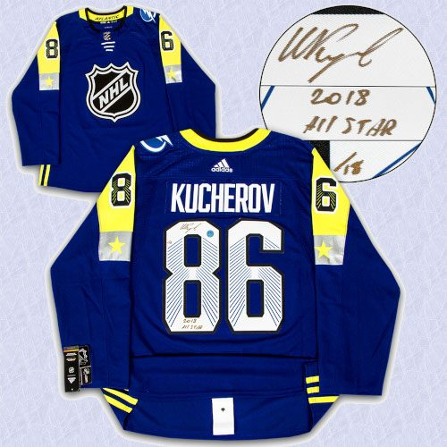 Nikita Kucherov 2018 All Star Game Signed & Inscribed Adidas Authentic Jersey /18