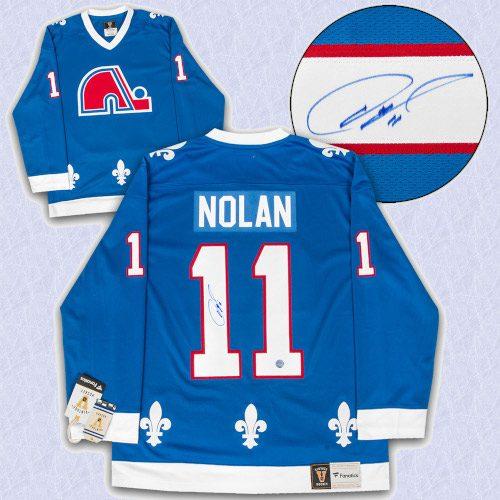 Owen Nolan Quebec Nordiques Autographed Fanatics Vintage Hockey Jersey