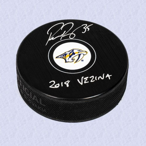Pekka Rinne Nashville Predators Signed Autograph Model Hockey Puck