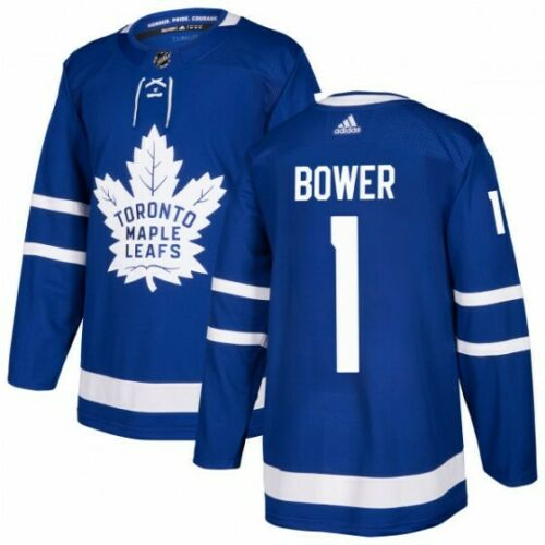 Johnny Bower Toronto Maple Leafs Adidas Authentic Home NHL Jersey