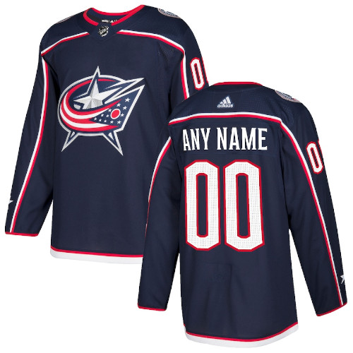 Columbus Blue Jackets Adidas Authentic Hockey Jersey Any Name and Number