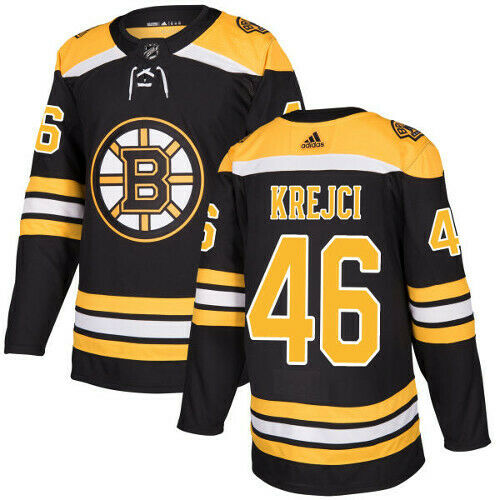 David Krejci Boston Bruins Adidas Authentic Home NHL Jersey