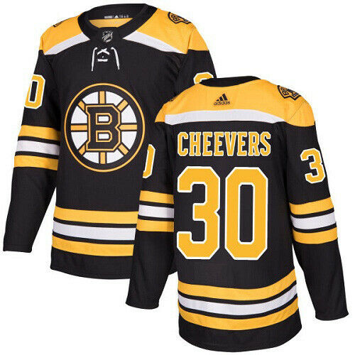 Gerry Cheevers Boston Bruins Adidas Authentic Home NHL Hockey Jersey