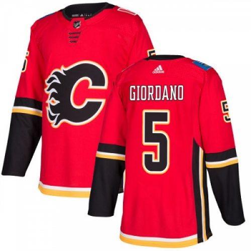 Mark Giordano Calgary Flames Adidas Authentic Home NHL Hockey Jersey