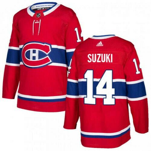 Nick Suzuki Montreal Canadiens Adidas Authentic Home NHL Jersey