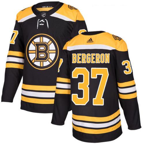 Patrice Bergeron Boston Bruins Adidas Authentic Home NHL Jersey
