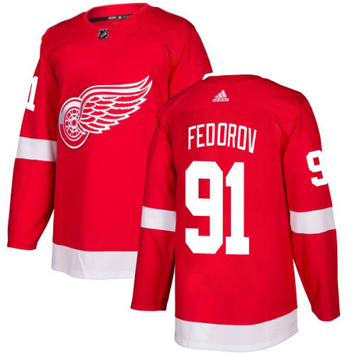 Sergei Fedorov Detroit Red Wings Adidas Authentic Home NHL Hockey Jersey