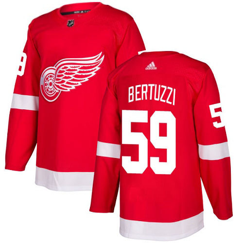 Tyler Bertuzzi Detroit Red Wings Adidas Authentic Home NHL Hockey Jersey