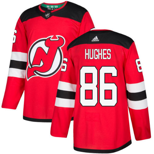 Jack Hughes New Jersey Devils Adidas Authentic Home NHL Hockey Jersey