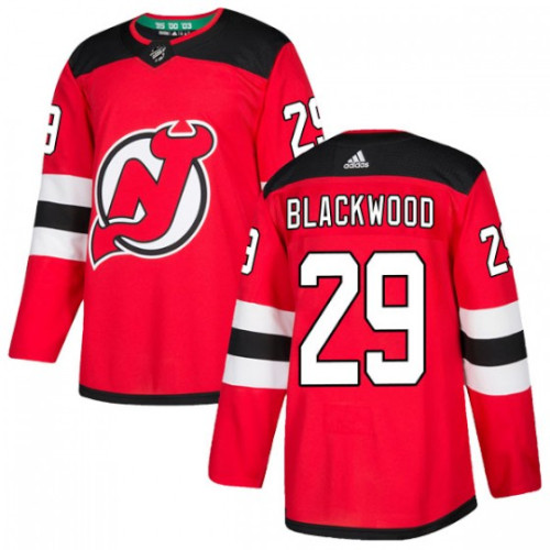 Mackenzie Blackwood New Jersey Devils Adidas Authentic Home NHL Hockey Jersey