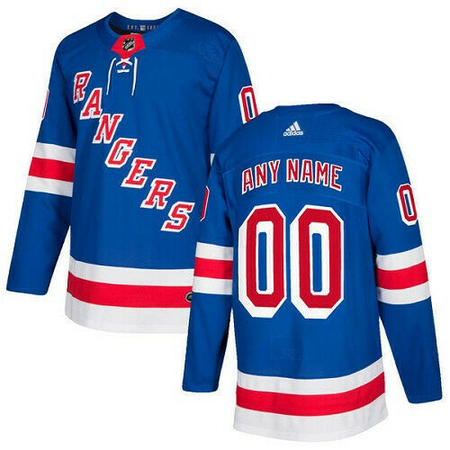 New York Rangers Adidas Authentic Hockey Jersey Any Name and Number