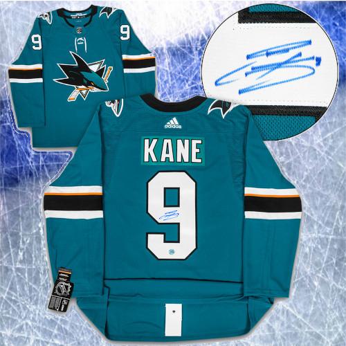 Evander Kane San Jose Sharks Autographed Adidas Home Jersey