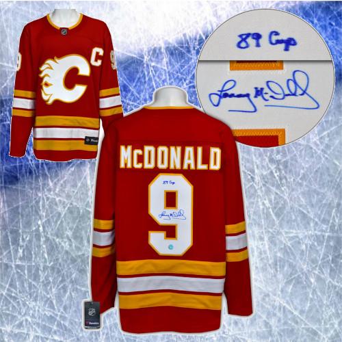 Lanny McDonald Calgary Flames Signed Retro Fanatics Hockey Jersey