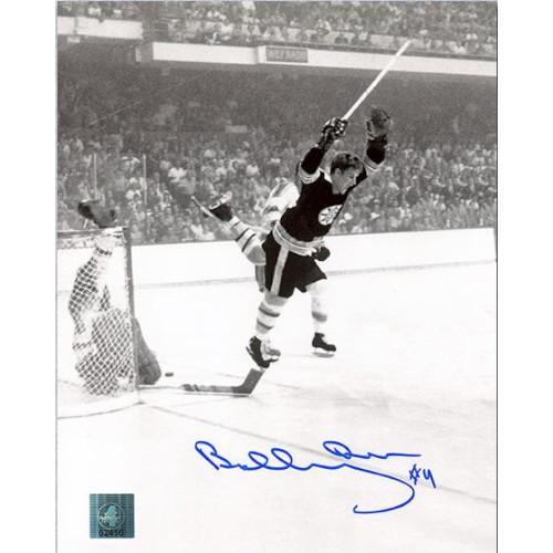"""Bobby Orr Boston Bruins Signed 8X10 Vertical """"The Goal"""" Photo GNR"""