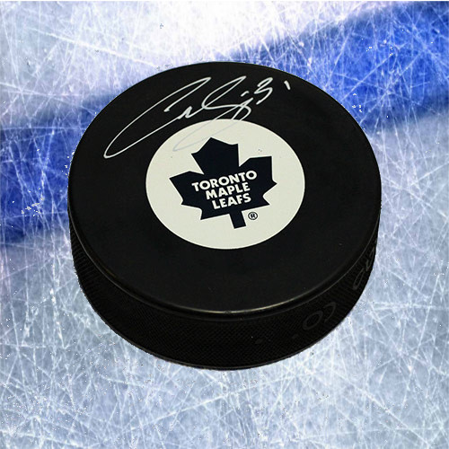 Curtis Joseph Toronto Maple Leafs Signed Hockey Puck