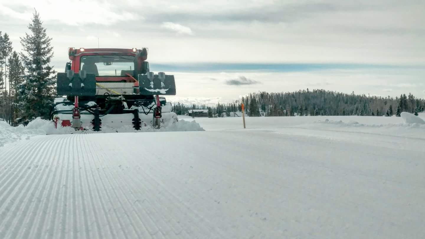 Pisten Bully grooming the trails.