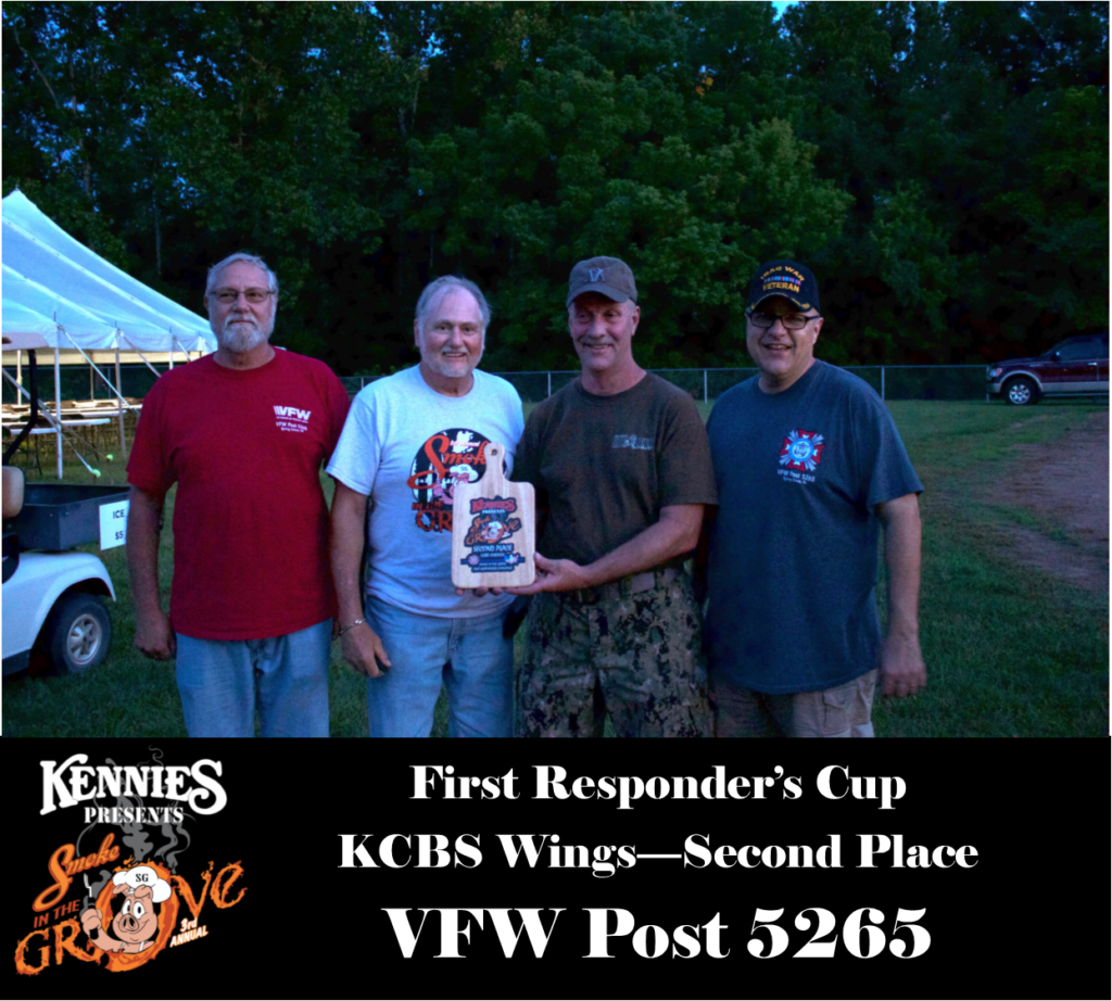 First Responder - KCBS Wing - Second Place