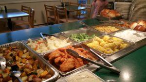 Photo of dinner buffet
