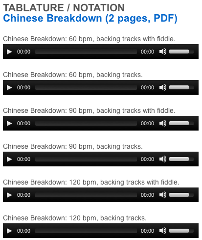 "This is an online fiddle lesson for the tune ""Chinese Breakdown."" BluegrassDaddy.com is your best source for Bluegrass, Old-Time, Celtic, Gospel, and Country fiddle lessons!"