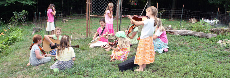Online Fiddle Lessons - goats listening to music