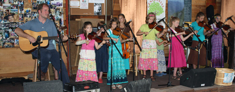 Online Fiddle Lessons - My students playing at Altapass.