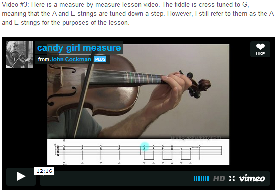 "This is an online fiddle lesson for the tune ""Candy Girl."" BluegrassDaddy.com is your best source for Bluegrass, Old-Time, Celtic, Gospel, and Country fiddle lessons!"