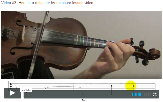 """This is an online fiddle lesson for the tune """"Will the Circle Be Unbroken."""" BluegrassDaddy.com is your best source for Bluegrass, Old-Time, Celtic, Gospel, and Country fiddle lessons!"""