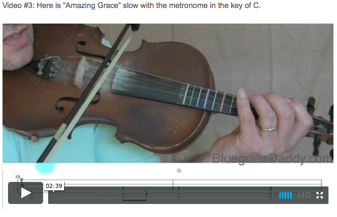 Amazing Grace -  Online Fiddle Lessons. Celtic, Bluegrass, Old-Time, Gospel, and Country Fiddle.