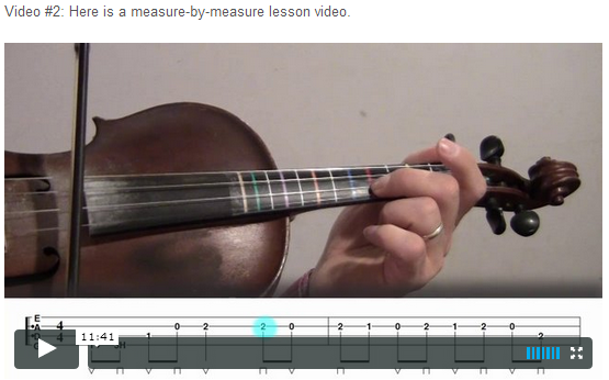 """This is an online fiddle lesson for the tune """"Jenny Lynn."""" BluegrassDaddy.com is your best source for Bluegrass, Old-Time, Celtic, Gospel, and Country fiddle lessons!"""
