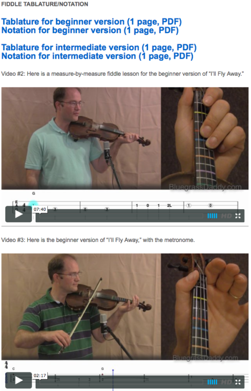 I'll Fly Away - Online Fiddle Lessons. Celtic, Bluegrass, Old-Time, Gospel, and Country Fiddle.