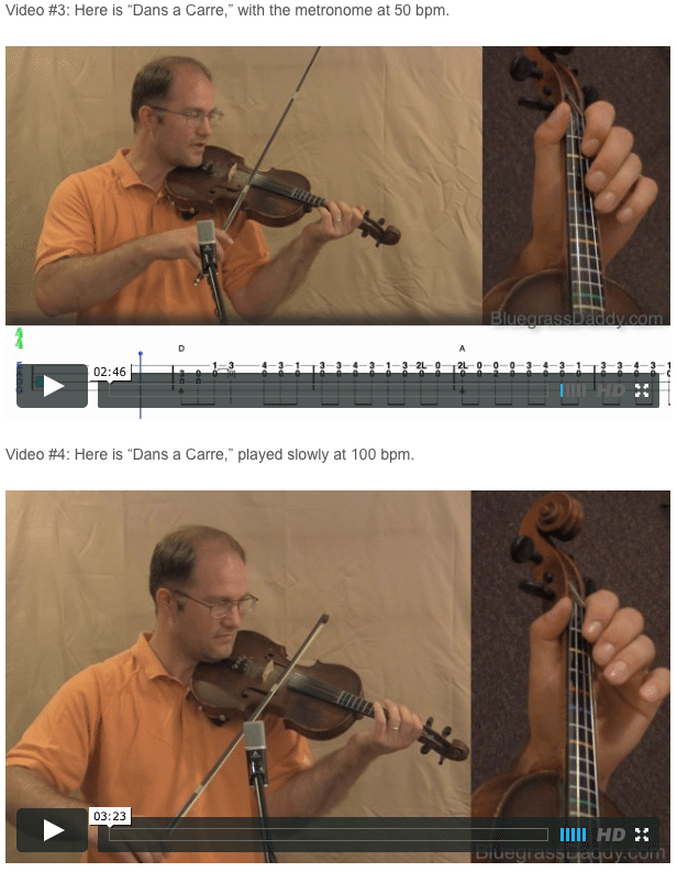 Dans a Carre - Online Fiddle Lessons. Celtic, Bluegrass, Old-Time, Gospel, and Country Fiddle.