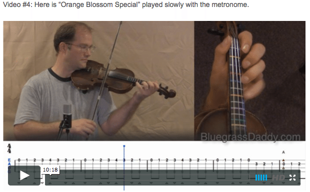 Orange Blossom Special - Online Fiddle Lessons. Celtic, Bluegrass, Old-Time, Gospel, and Country Fiddle.