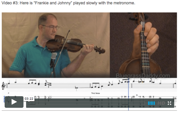 Frankie and Johnny  -  Online Fiddle Lessons. Celtic, Bluegrass, Old-Time, Gospel, and Country Fiddle.
