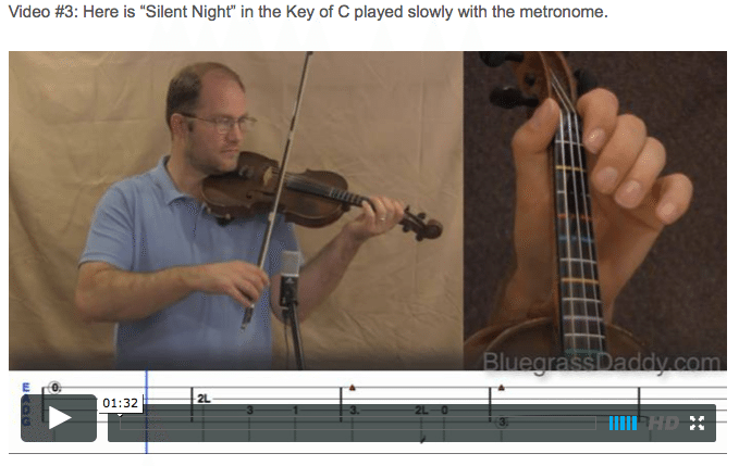 Silent Night - Online Fiddle Lessons. Celtic, Bluegrass, Old-Time, Gospel, and Country Fiddle.