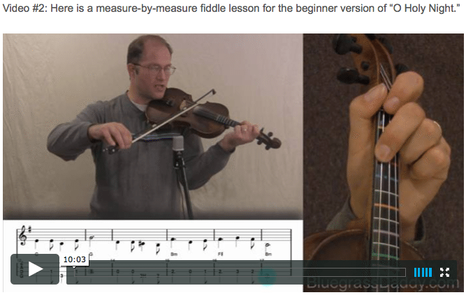 O Holy Night - Online Fiddle Lessons. Celtic, Bluegrass, Old-Time, Gospel, and Country Fiddle.