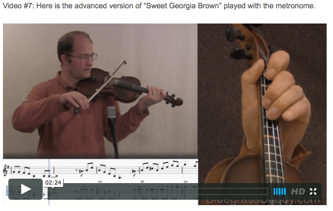 Sweet Georgia Brown - Online Fiddle Lessons. Celtic, Bluegrass, Old-Time, Gospel, and Country Fiddle.
