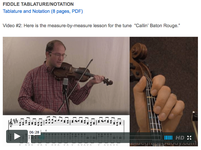 Callin' Baton Rouge - Online Fiddle Lessons. Celtic, Bluegrass, Old-Time, Gospel, and Country Fiddle.